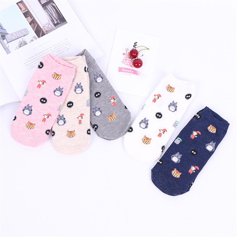 Cute Animal Cotton   Socks   for Female Kawaii Chinchilla Summer and Spring Short   Socks   Slippers Women Casual Soft Funny   Socks
