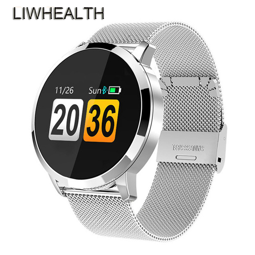 Luxury 360 Smart Watch Men Women HR Cardiaco Monitor Reloj Inteligente Health Smartwatch Fit For Apple/Moto/Xiaomi Steel Band