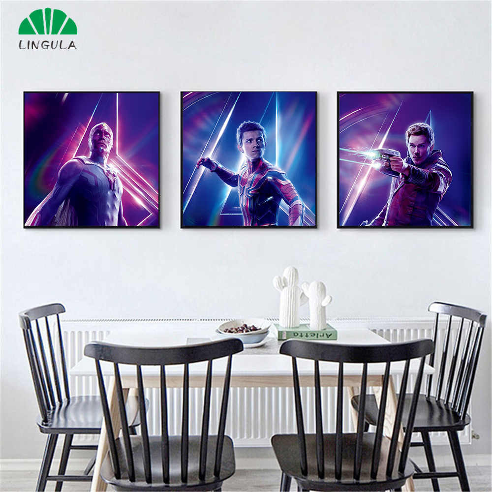 Canvas Painting Home Decor Avengers Infinity War Character Hulk Spider Iron Man Doctor Posters and Prints Marvel Movie Poster