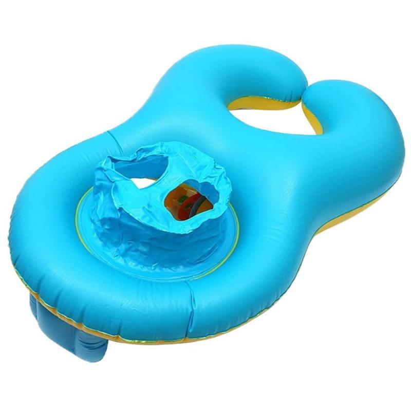 Детский бассейн детское сиденье круг Двойное Кольцо Плавание надувные поплавки ванной летние пляжные бассейн игрушки аксессуары