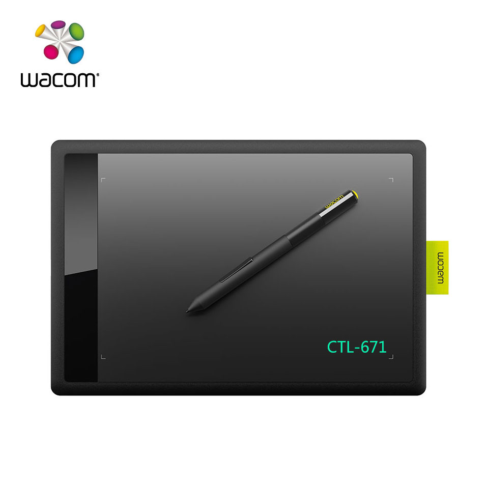 One by Wacom CTL 671 Medium Digital Graphic Drawing Tablet Pad 1024  Pressure Levels-in Digital Tablets from Computer & Office on Aliexpress com   