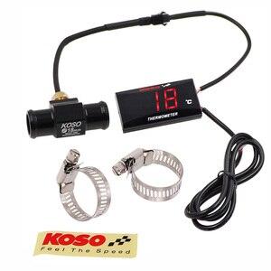 Car Motorcycle Temperature Gauge Digital LED Koso Water Temperature Gauge with Sensor for NMAX CB 400 CB500X YBR125 XMAX250 300