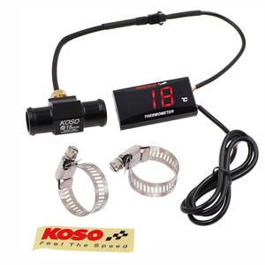 Image 2 - KOSO Motorcycle Thermometer for 0~120 Degree Centigrade Universal Digital Moto Water Temperature Gauge with Sensor & Adapter