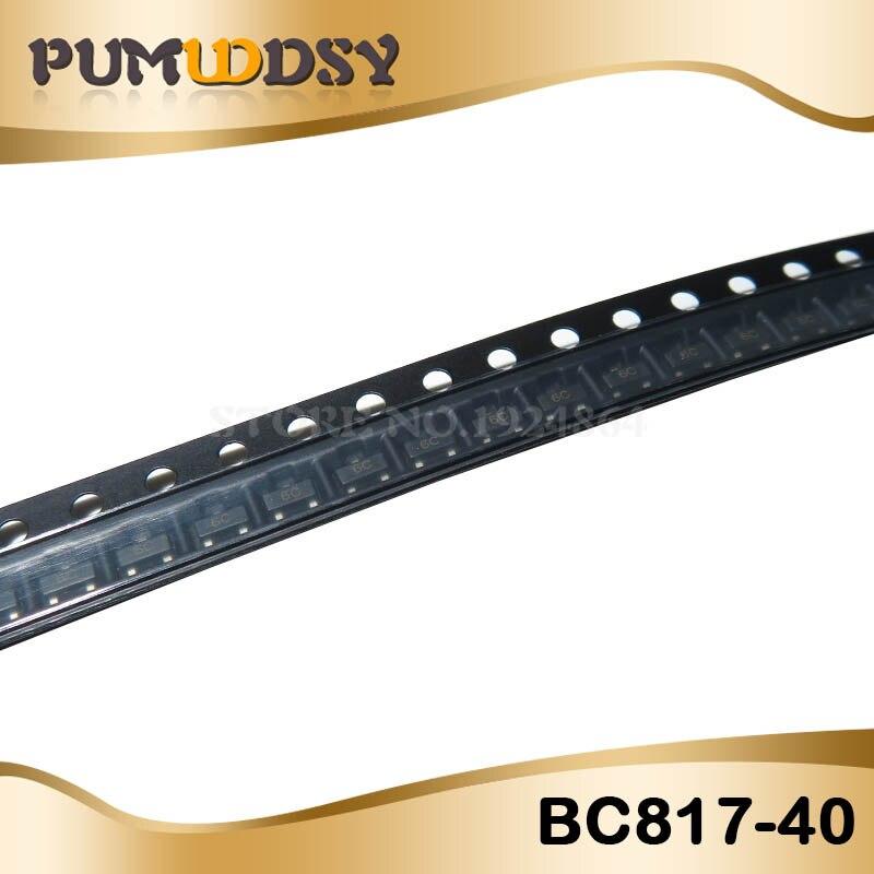 100PCS BC817-40 6C TRANSISTOR NPN 500MA 45V SOT-23