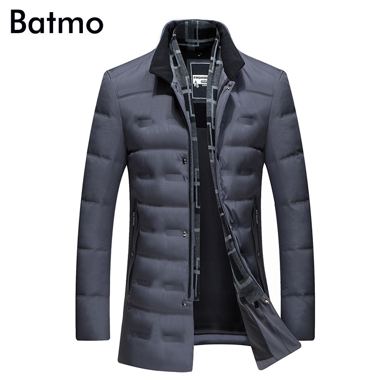 Batmo 2018 new arrival winter high quality 80% white duck down jacket men,winter mens coat ,plus-size M,L,XL,XXL,XXXL 8903