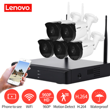 LENOVO 5CH Array HD Wireless Security Camera System DVR Kit 960P WiFi camera Outdoor NVR night vision Surveillance