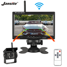 Jansite 7 TFT LCD Wireless Car Monitor Display Cameras Reverse Camera Parking System for Car Rear view Monitors Support DVD VCD цена