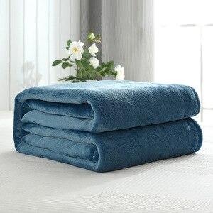 Image 5 - CAMMITEVER colcha Franela suave para sofá, cama, coche y oficina, manta de forro polar