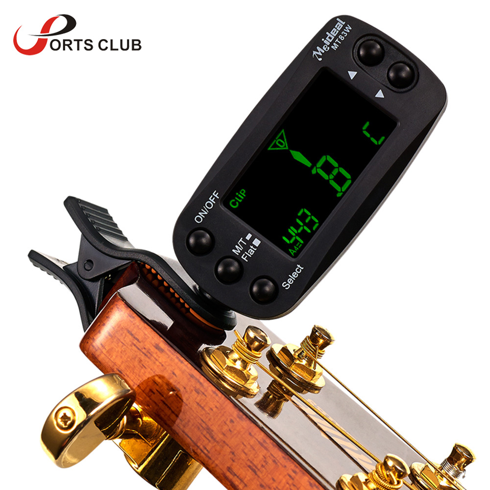 mini clip on digital tuner metronome with lcd display for guitar bass violin viola cello. Black Bedroom Furniture Sets. Home Design Ideas