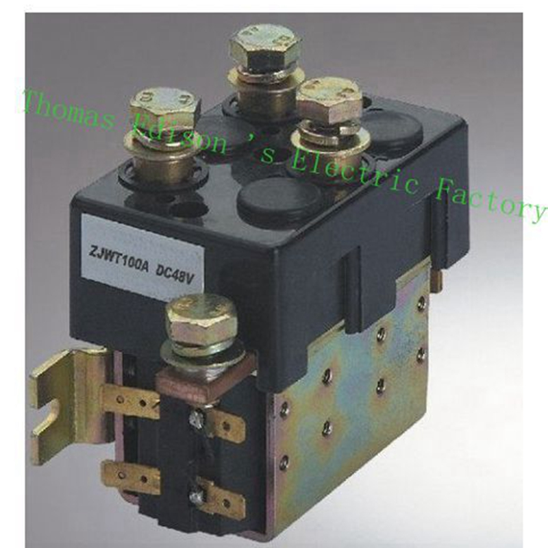 DC88 2NO+2NC 12V 24V 36V 48V 60V 72V 100A DC Contactor ZJWT100A for motor forklift handling drawing grab wehicle car winch