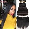 Shining Star Hair Peruvian Straight Virgin Hair With Closure Cy May Peruvian Straight Human Hair 3 Bundles With Frontal Closure