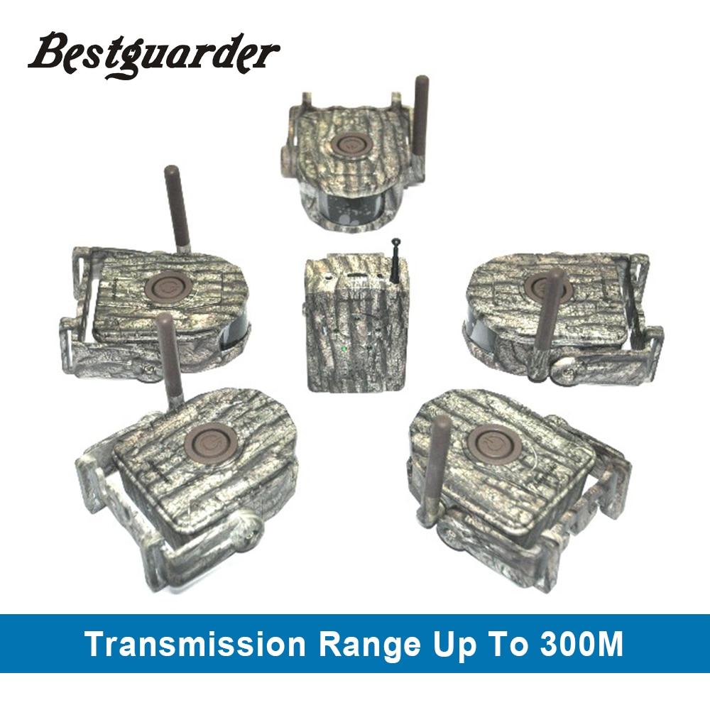 Bestguarder 300 M Rango Caza alarma del detector 360 grados bosque trampa fauna alarma Caza vigilancia detector alarma juego
