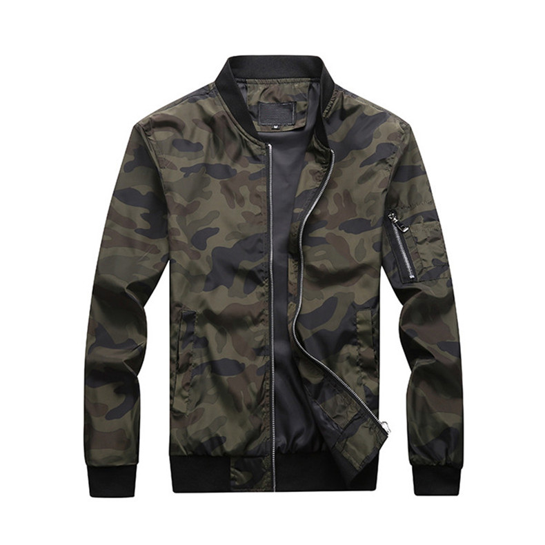 7XL Jackets Men 2019 Camouflage Jacket Male Coats Camo Bomber Mens Jacket Brand Cloth Outwear Baseball Collar Plus Size 5XL 6XL 08