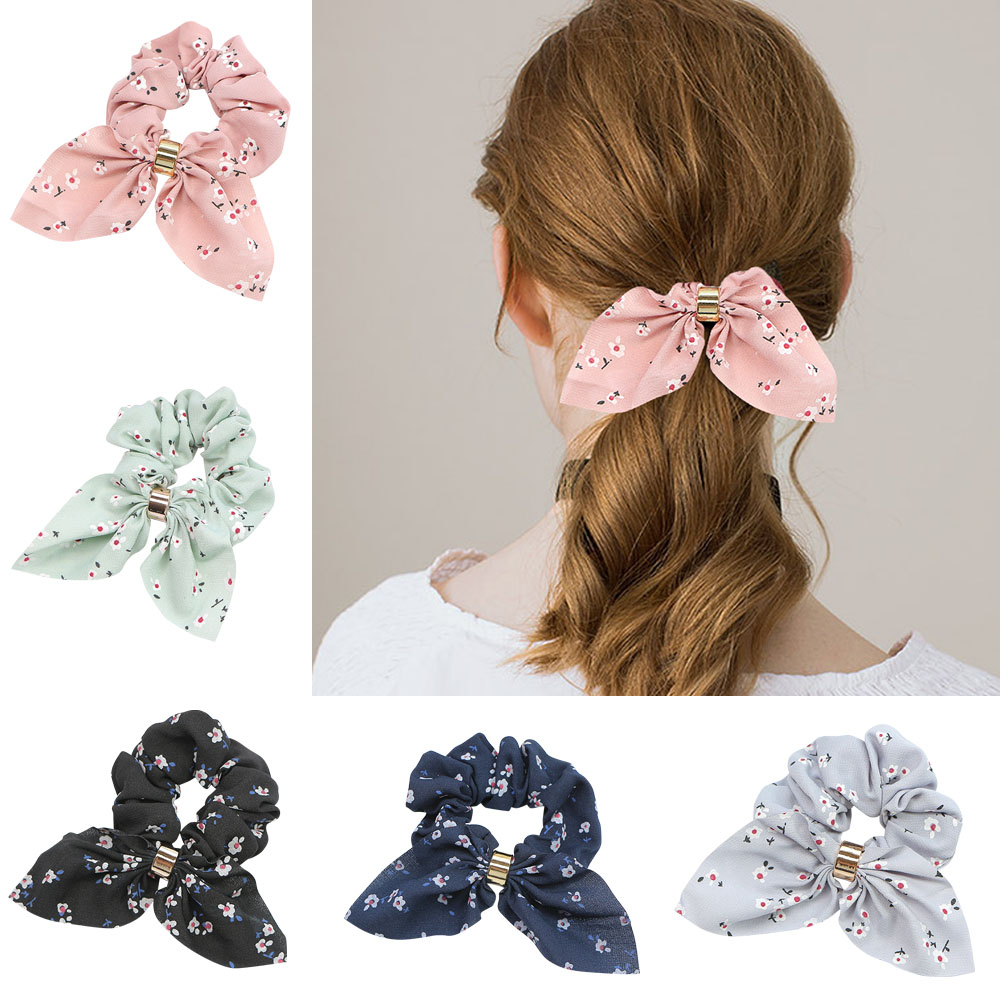 Floral Elastic Hair Ring Hair Band Headband Hair Accessories For Gilrs Femal New