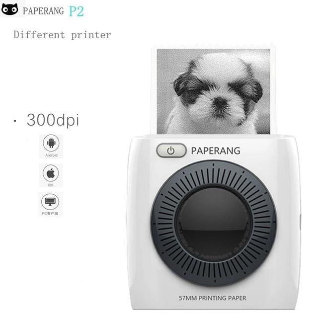 PAPERANG P2 de la impresora de la Foto 300 dpi bolsillo Draagbare impresora Bluetooth teléfono Foto HD Thermische Labelprinter