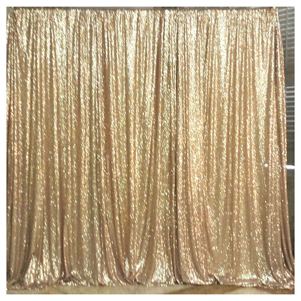 Gold stage curtain - Popular Free Shipping Stage Decoration Wedding Backdrop Matte Gold Sequin Curtains 4ftx8ft Sequins Fabric Backdrop 120cmx240cm