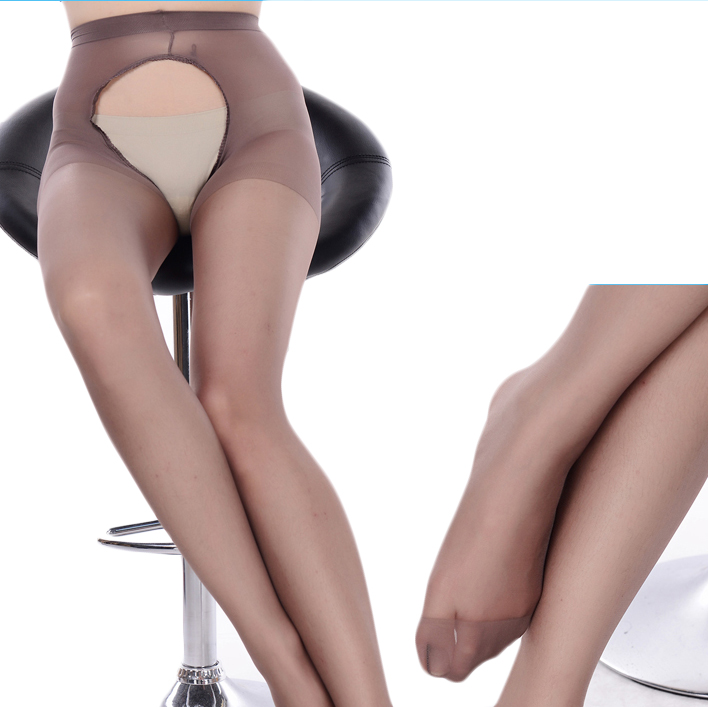 Hot Brown Sexy Lingerie Hollow Out Open Crotch Pantyhose Stockings Tight Bodysuit Temptation Fishnet Bodystocking Sexy Underwear image
