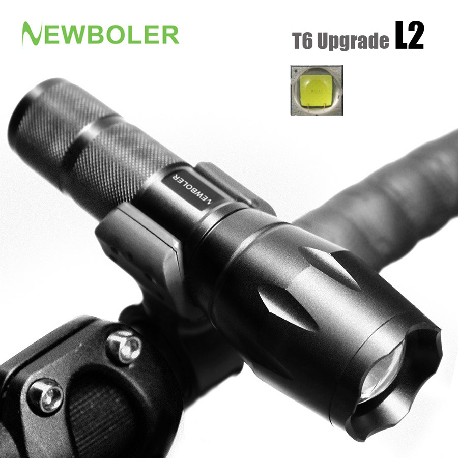 NEWBOLER Bicycle Light 5 Mode XM-L2 LED Bike Light Front Torch + Holder Waterproof 3800 Lumens Led Rechargeable Flashlights USB cree xm l t6 bicycle light 6000lumens bike light 7modes torch zoomable led flashlight 18650 battery charger bicycle clip