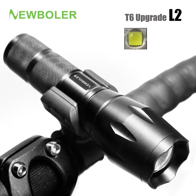 NEWBOLER Bicycle Light 5 Mode XM-L2 LED Bike Light Front Torch + Holder Waterproof 3800 Lumens Led Rechargeable Flashlights USB