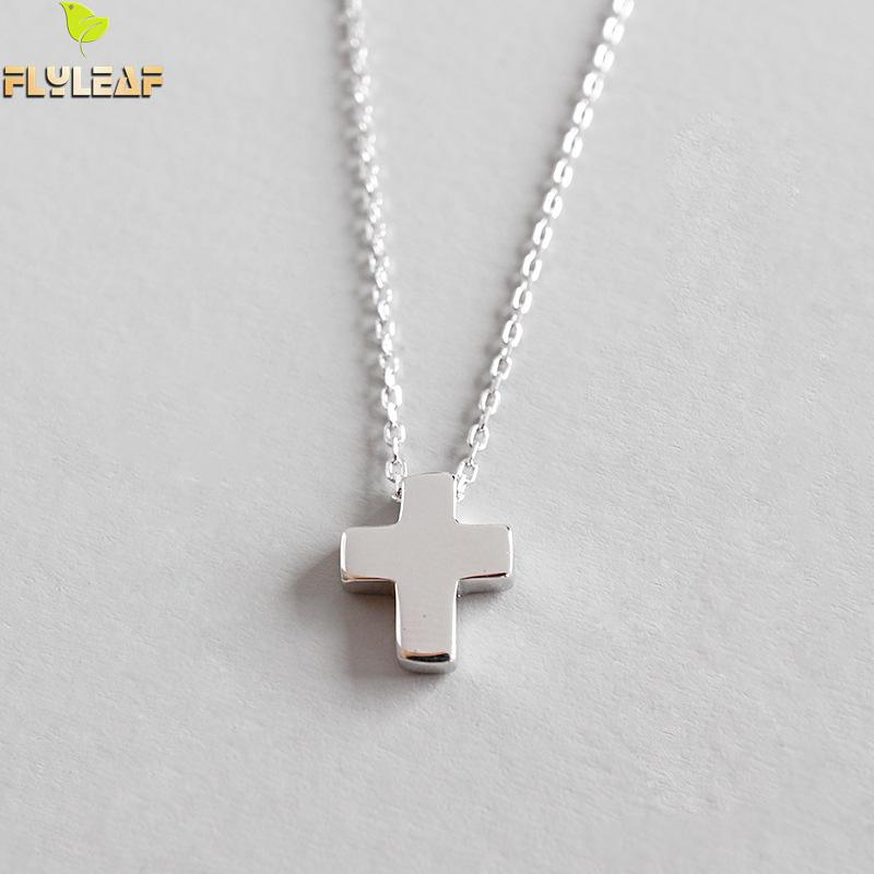 Flyleaf 925 Sterling Silver Cross Necklaces & Pendants For Women Simple Student Girl Fashion JewelryFlyleaf 925 Sterling Silver Cross Necklaces & Pendants For Women Simple Student Girl Fashion Jewelry