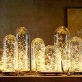 5 м 50 LED 3 м 30LED 3AA на батарейках светодиодные гирлянды для рождественской гирлянды для вечеринки свадьбы Декор Рождество мигалка сказочные ог...
