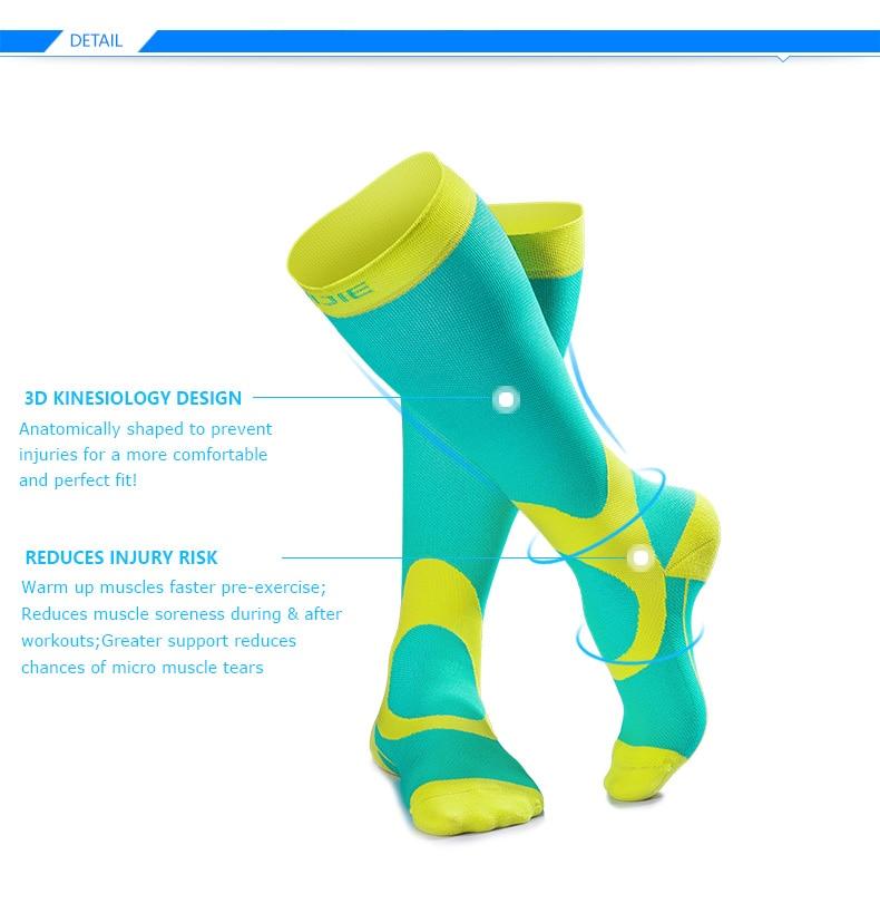 Aonijie e4069 meias de compressão atlético apto
