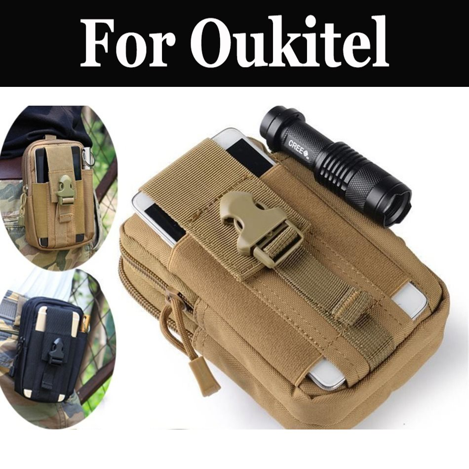 Outdoor Tactical Holster Military Hip Waist Belt Bag Wallet For <font><b>Oukitel</b></font> <font><b>K5000</b></font> Mix 2 K8000 C9 C11 Pro U18 K6 K10 K6000 Premium image