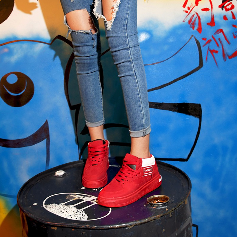 Casual Women Shoes Lace Up Breathable Platform High Top Casual Shoes KUYUPP 2016 Spring Autumn Fashion Lace Up Skate Shoes YD158 (30)
