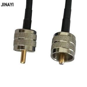 Image 3 - RG58 50 3 كابل محوري PL259 UHF ذكر إلى UHF ذكر موصل RF محول اقناع هام راديو كابل 50 سنتيمتر 1/2/3/5 متر 10 متر 15 متر 20 متر