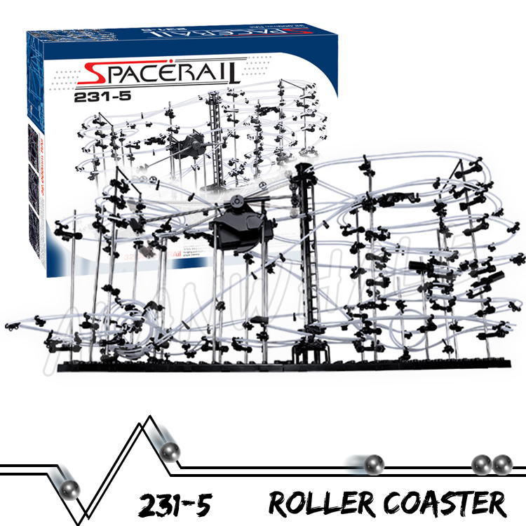 3200cm Rail Level 5 Marble Run Maze Roller Coaster Electric Elevator Model Building Kit STEM Learning Toy Rolling ball Sculpture