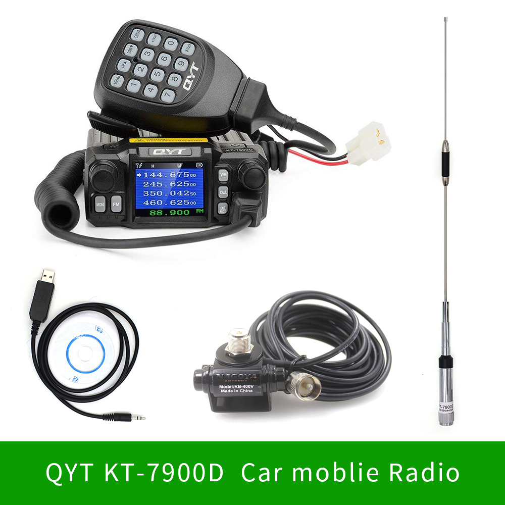 <font><b>QYT</b></font> <font><b>KT</b></font>-<font><b>7900D</b></font> Mini Mobile Radio KT7900D Quad Band Quad standby 136-174MHz/220-260MHz/350-390MHz/400-480MHZ Car 4 Bands CB Radio image