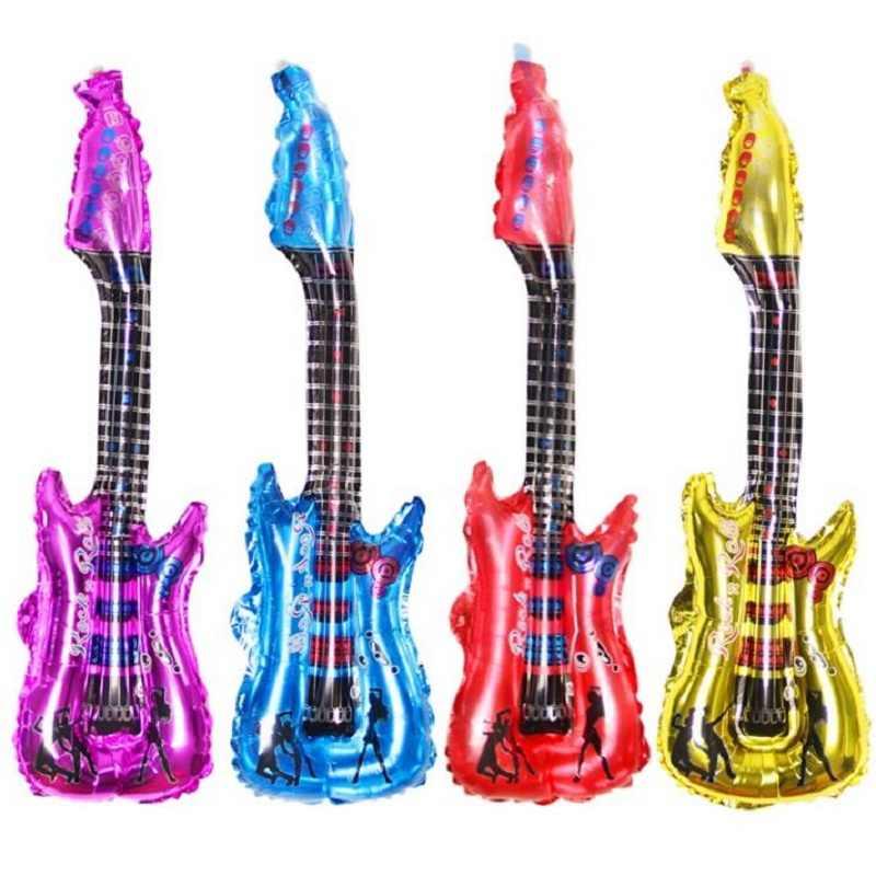 1 шт. 80*30 см гитара Фольга шары Алюминий воздушный шар одежда для свадьбы, дня рождения украшения для детей и взрослых баллон Balony Globos