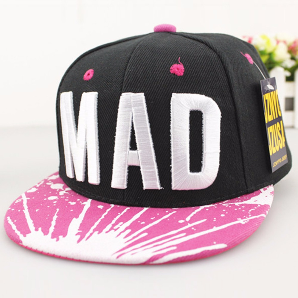 f783ea08507 2019 Trend Hat Snapback Cap Children Embroidery MAD or S Letter Baseball  Caps Kid Boys And Girls Flat Hip Hop Cap Brand New-in Baseball Caps from  Apparel ...