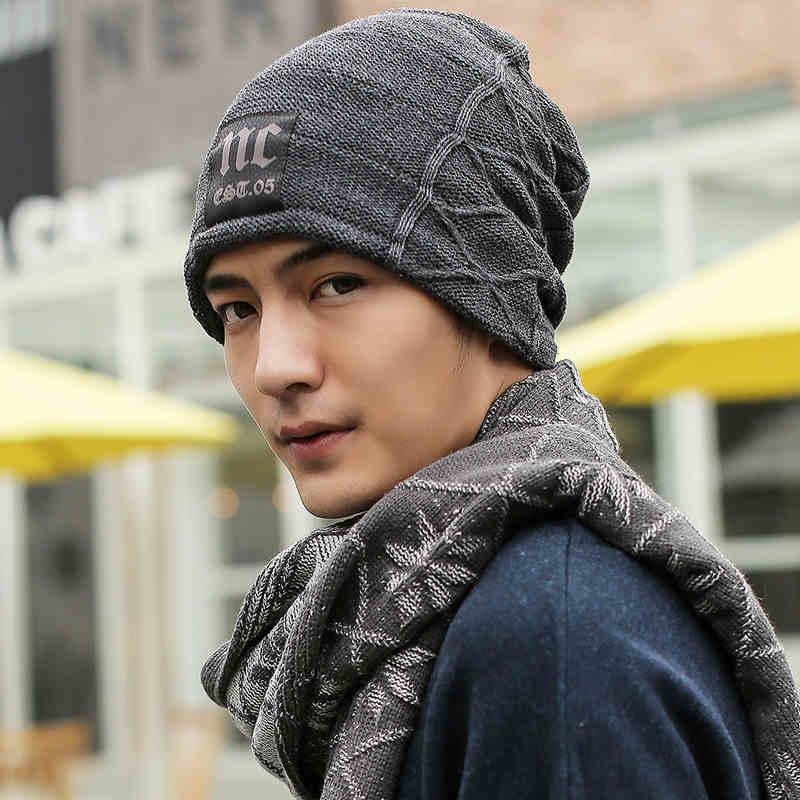 2016 Real New Hats Winter Korean Fashion Beanie Men Hat,outdoor Snow Caps Knit Hat Skull Chunky Baggy Warm Skullies,touca Gorro