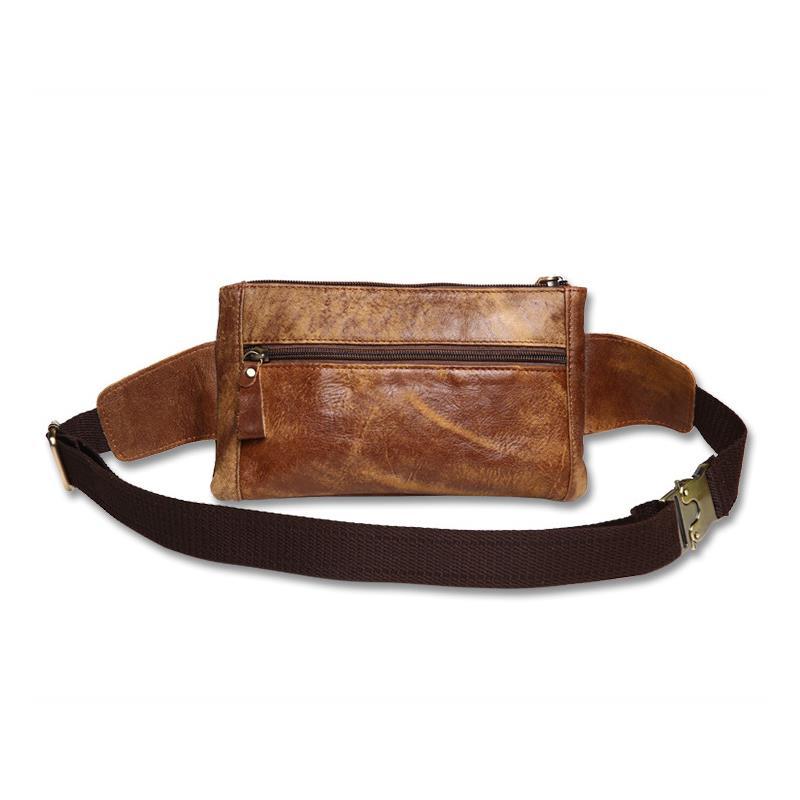 New Business Cashier Leather Men's Pockets Casual Chest Leather Slung Men's Bag