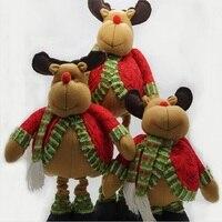 Artigos de decoração adereços de cena Natal alce veados natal retrátil ajustar o alto teor de gordura boneca linda boneca de presente
