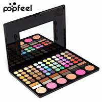 POPFEEL Diamond Nake Bright Eye Shadow Make Up Palette 78 Color Eyeshadow Makeup Set With Brush