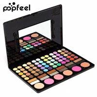 POPFEEL Diamond Nake Bright Eye Shadow Make Up Palette 78 Color Eyeshadow Makeup Set With Brush