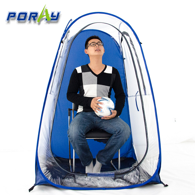 82d2ac94424 single Outdoor rainproof Private sun-shade insulation watching sports pop  up tent Keep warm portable PVC tent with hat
