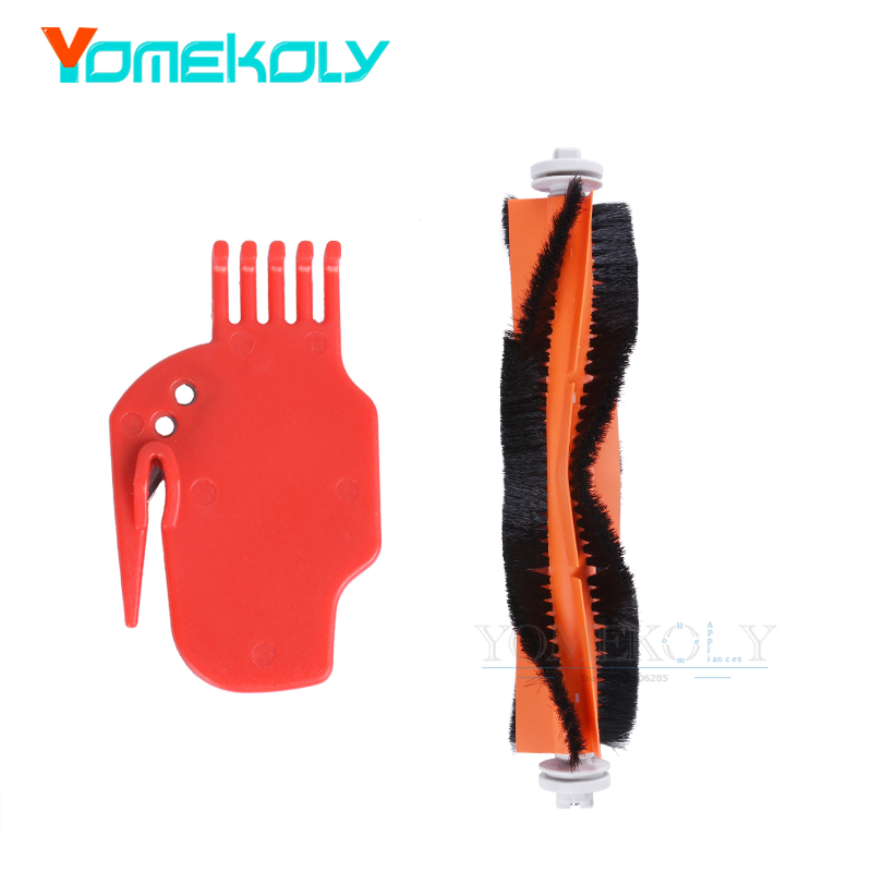 Vacuum Cleaner Parts for Xiaomi Mi Robot/Roborock 1PC Main Brush 1PC Cleaning Tool Robotic Vacuum Replacement Kits original xiaomi mi robot vacuum cleaner for home automatic sweeping smart planned wifi app control 5200mah dust sterili cleaning