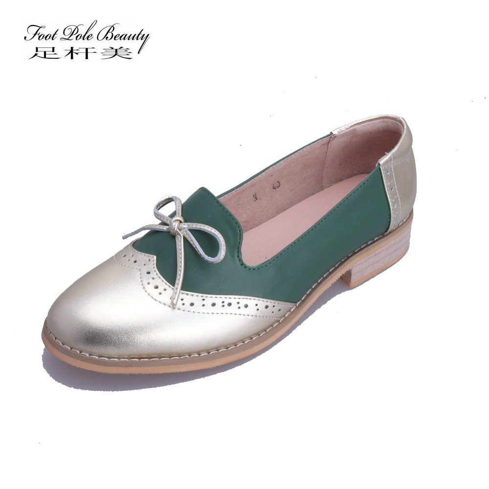 6f2de8dbdfbbb FOOT POLE BEAUTY Brand Shoes Women's fashion large size Handmade Loafers  tasseled flat women shoes Genuine Leather casual shoes-in Women's Flats  from ...