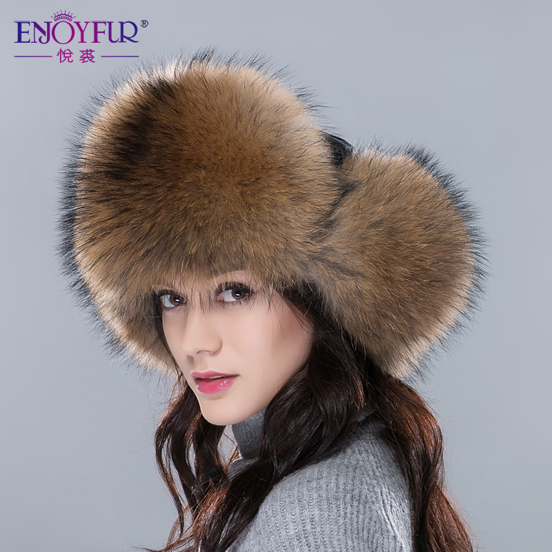 7f1d7aca6d0 Imported fur hats for women winter whole fox raccoon fur cap with real  leather crown 2018 new pop high quality unisex bomber hat