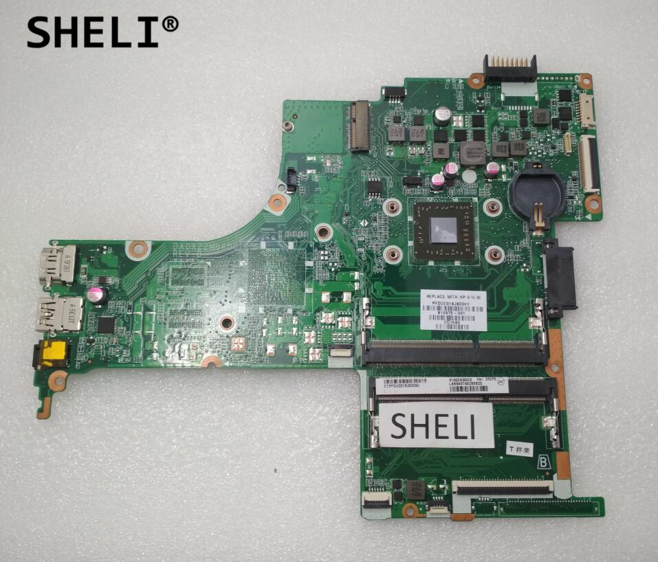 SHELI For HP 14-ab series Motherboard with A8-7410 CPU DA0X22MB6D0 810972-001 810972-501SHELI For HP 14-ab series Motherboard with A8-7410 CPU DA0X22MB6D0 810972-001 810972-501