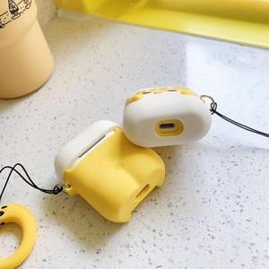 Image 2 - Güzel yumurta 3D karikatür airpods için 2 durumda Apple kablosuz Bluetooth kulaklık koruma kapağı silikon yumuşak koruyucu kabuk