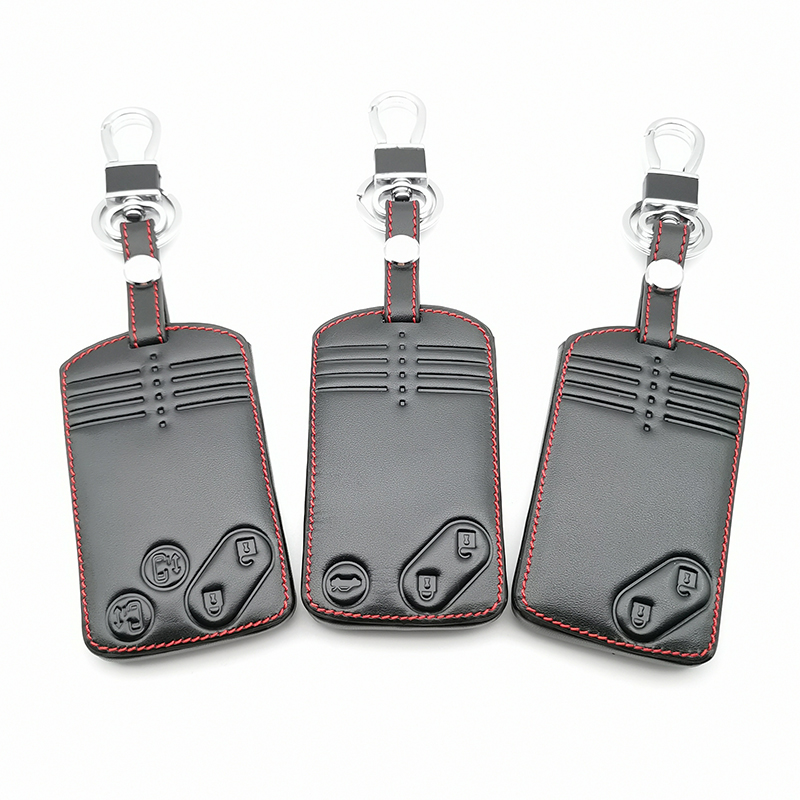 2/3/4 Buttons Remote Card Key Leather Cover For Mazda 2 3 5 Premacy Miata 6 8 RX8 MX5 M8 CX-7 CX-9 Verisa MPV Protector Fob
