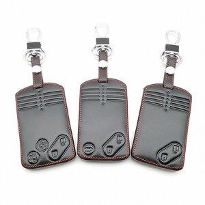 Image 1 - 2/3/4 Buttons Remote Card Key Leather Cover For Mazda 2 3 5 Premacy Miata 6 8 RX8 MX5 M8 CX 7 CX 9 Verisa MPV Protector Fob
