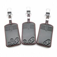 2/3/4 Nút Remote Thẻ Bao Da Chìa Khóa Dành Cho Xe Mazda 2 3 5 Premacy MIATA 6 8 RX8 MX5 m8 CX 7 CX 9 Verisa MPV Tấm Bảo Vệ Fob