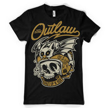 T Shirt Anime biker bone outlaw shut up and ride skull helmet bat biker classic Tee Tshirt T-shirt Hip-Hop Tees