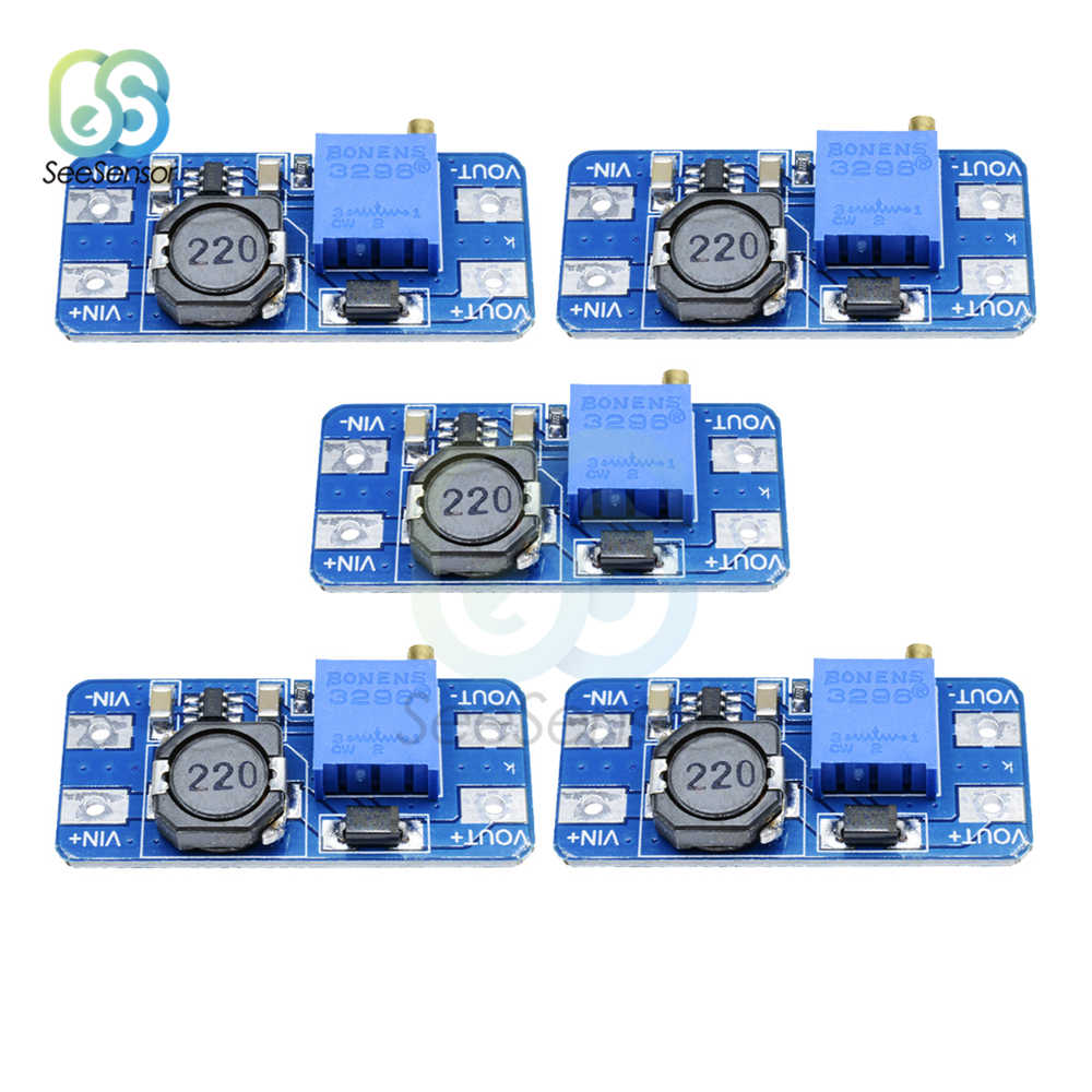 5Pcs MT3608 DC-DC Step Up Converter Amplificatore di Potenza Modulo di Alimentazione Boost Step-up di Bordo di Uscita MAX 28V 2A Per Arduino