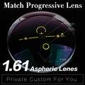 Taxa Extra para 1.61 Lente Asférica Anti Reflexivo Multi-distância focal Da Lente Progressiva HMC Graduado Progressivas Lente Varifocal